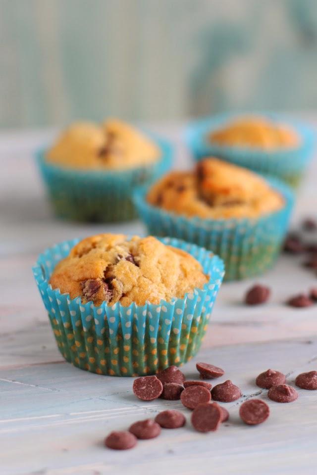 muffins de plátano con chips de chocolate receta paso a paso