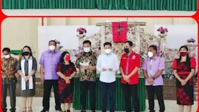 Dilantik Jadi KSB Panitia RKTR Sinode GMIM 2021, Kak Joune, Kevin dan Delon Berkomitmen Memberi Diri dalam Pelayanan Remaja