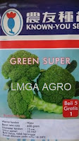 benih brokoli, brokoli green super, green super, benih known you seed
