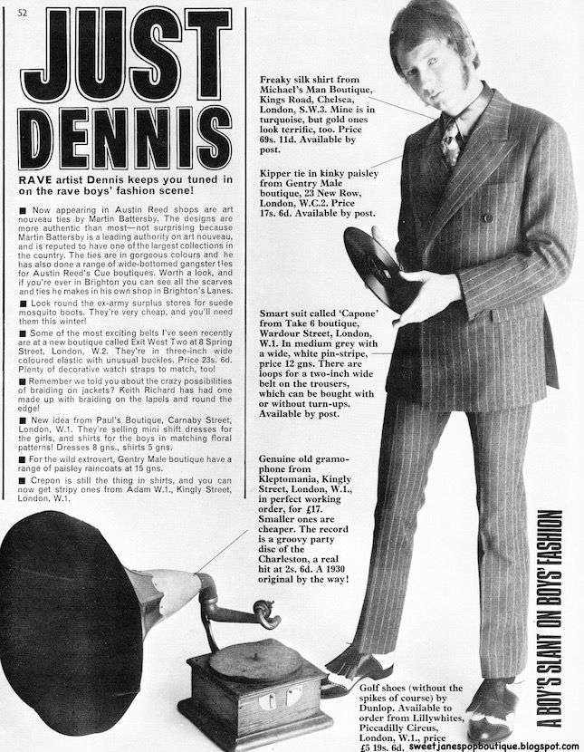 Sweet Jane blog: Just Dennis Rave Magazine (1966)