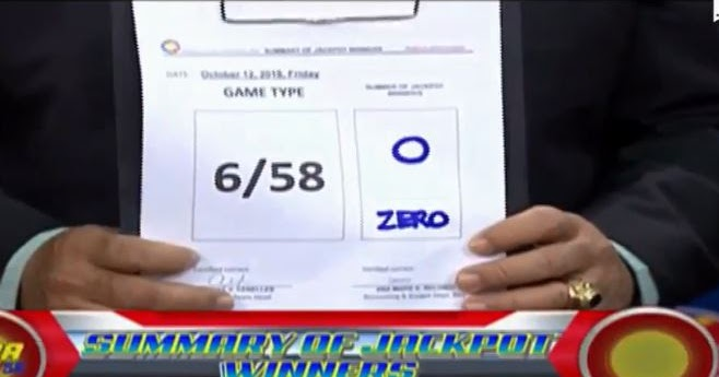 lotto 6/58 results
