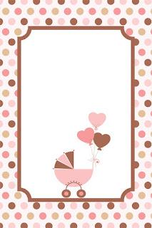 Etiquetas de Huellas de Bebé en Rosa para imprimir gratis.