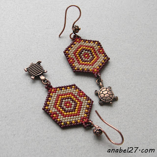 украшения от Anabbel seed bead earrings indian style