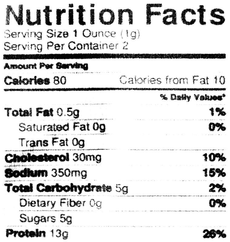 bad buds jerky nutrition