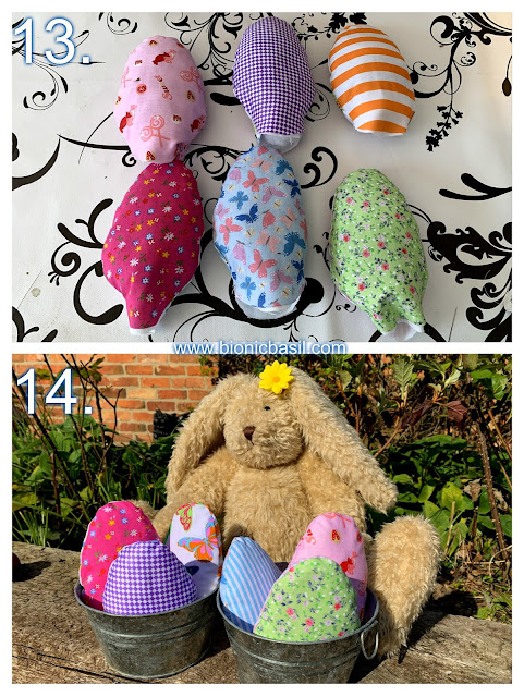 Crafting with Cats Easter Special ©BionicBasil® Catnip Easter Eggs Steps 13 -14
