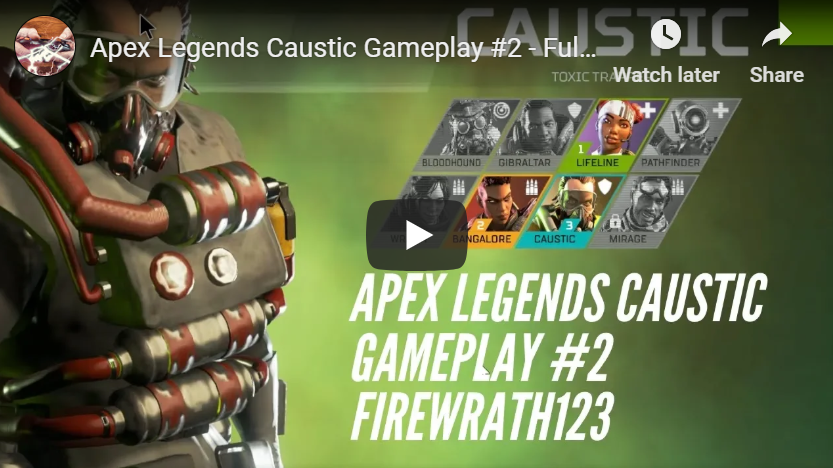 Apex Legends Caustic Gameplay #2 - Full Match on PC (No Commentary)