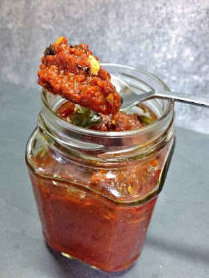 Allam Pachadi or Ginger Tamarind Pickle