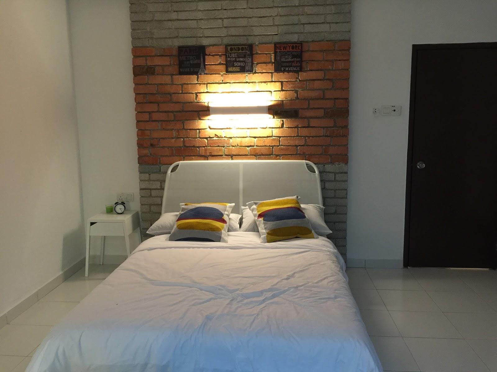 Bilik Tidur Utama Dekorasi Hipster Moden Homestay Portturu15 Johor Bahru