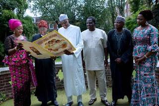 Buhari Hosts media Team in UK