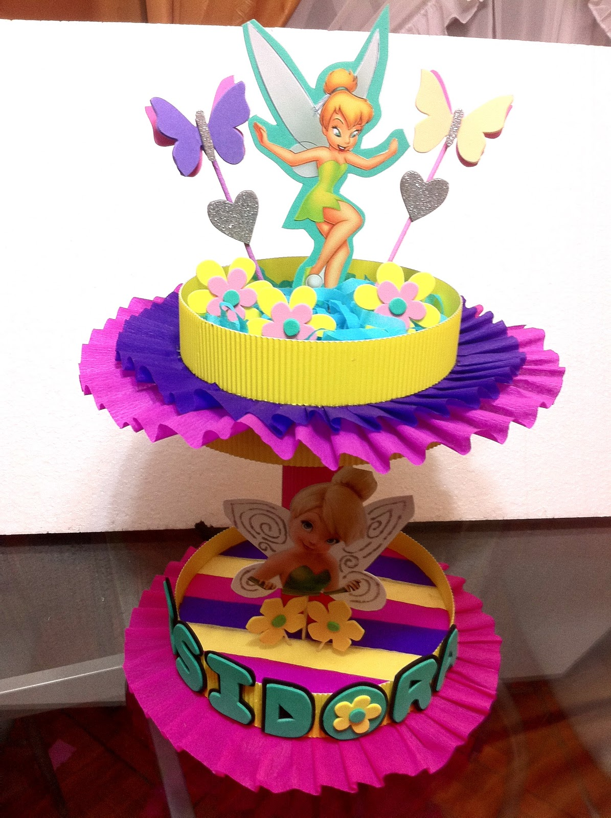 Decoraciones infantiles dulceros tinkerbell for Decoraciones infantiles