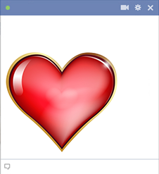 Facebook heart emoticon