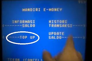Cara Isi Ulang (Top Up) Kartu e-Toll Bank Mandiri di ATM
