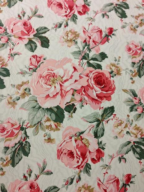 Floral Chintz Print Fabric