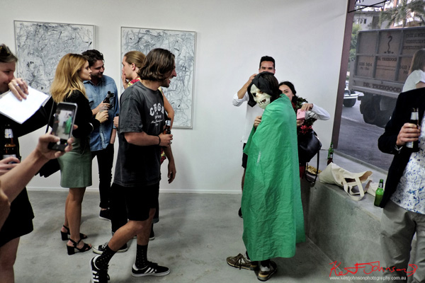Halloween capers! COMA Gallery & Art Opening - Photographed by Kent Johnson for Street Fashion Sydney.