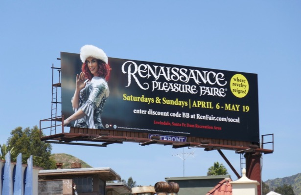 2019 Renaissance Pleasure Faire billboard