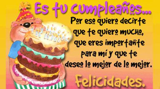 feliz cumpleaños te quiero