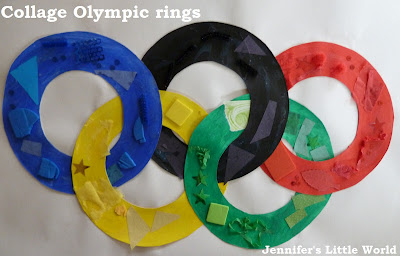 Collage Olympic rings craft
