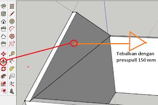 Cara Membuat Atap 3D pada Sketchup Kursus Komputer di
