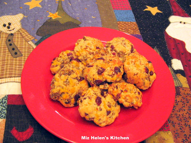 Cranberry Sausage Cookie at Miz Helen's Country Cottage