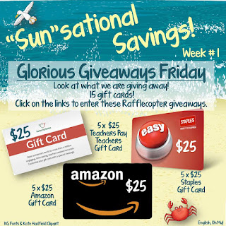 Amazon, Teachers pay Teachers, and Staples gift card teacher giveaway