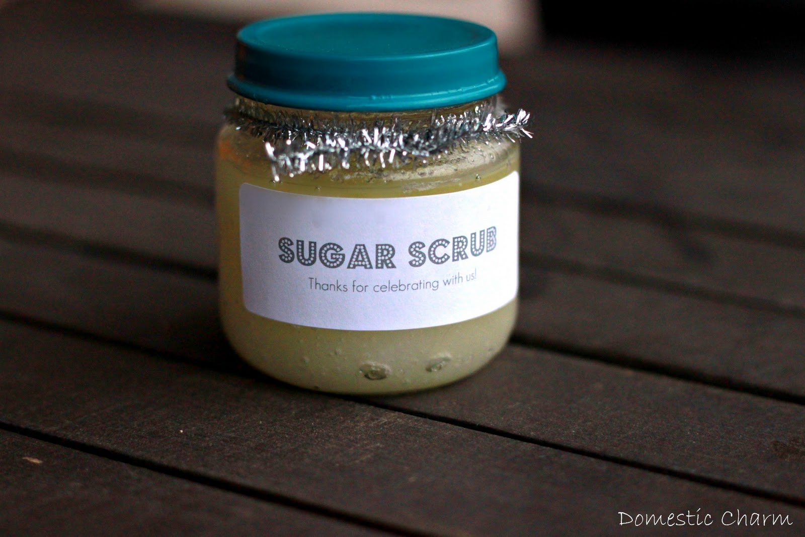 Sugar Scrub In Baby Food Jars
