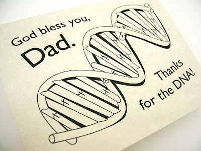 DNA clip art for birthday, Father's Day, or any card for dad.