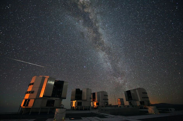 Perseidas 2018 no ESO - Chile