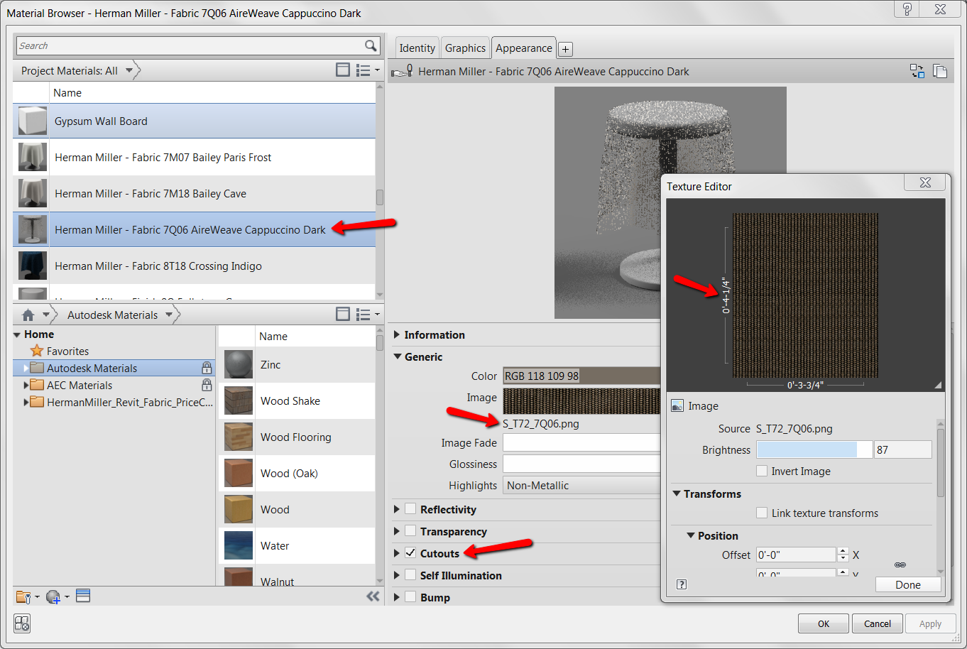 BIM Chapters: Render Appearance Search Path