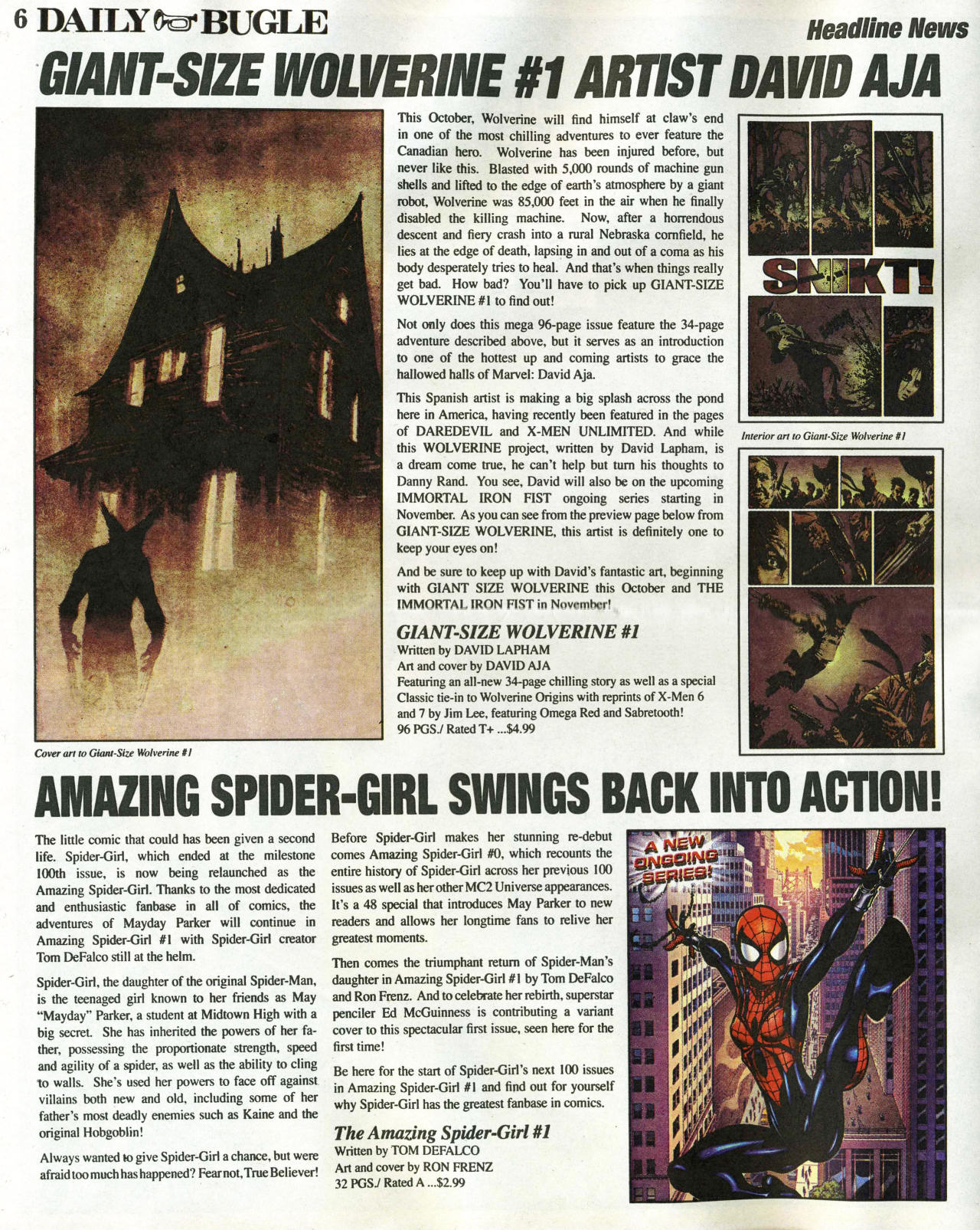 Read online Daily Bugle (2006) comic -  Issue #1 - 6