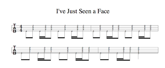 The Beatles(ビートルズ)のI've Just Seen a Face(夢の人)TAB(タブ譜)