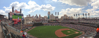 Comerica Park Detroit Tigers panoramic photo