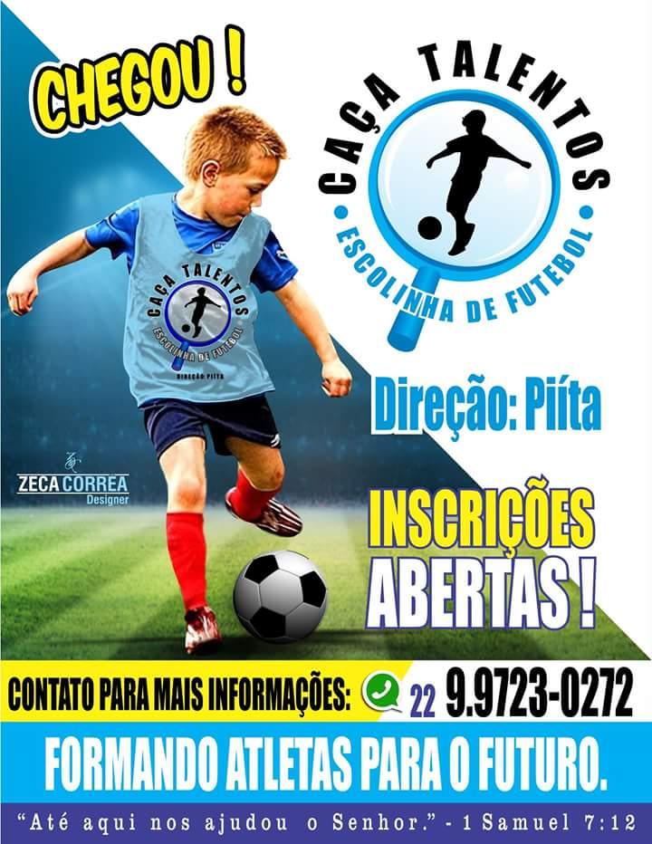 ... ESCOLINHA DE FUTEBOL CAÇA TALENTOS. A idade de desenvolver no futebol  técnicas e habilidades e desde novo 195d85ccfd0e1