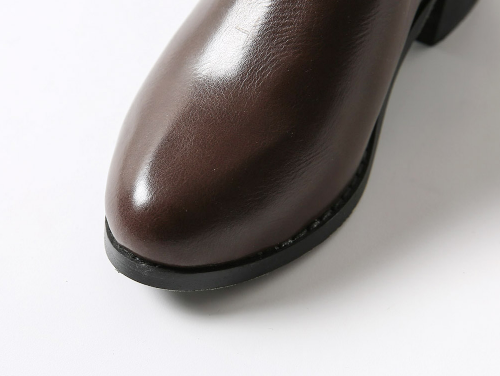 Chunky-Heeled Faux Leather Chelsea Boots