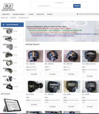 prodajni program Brake Parts