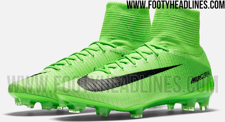 sports shoes 03e45 ef5ef Known as  Electric Green   Black , the green Nike Mercurial Superfly 5 2017  football boot colorway is the first 2017 paint job of the cutting-edge  speed ...