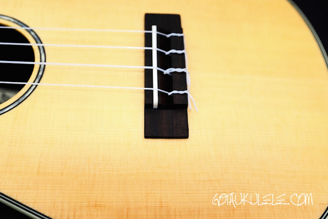 Clearwater roundback concert ukulele bridge