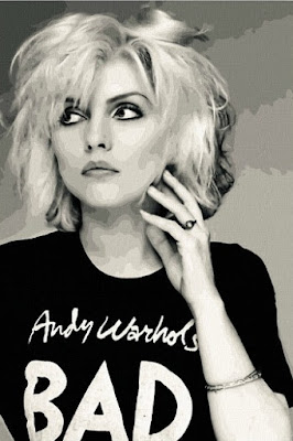"Debbie Harry (1979) wearing an ""Andy Warhol's Bad"" T-shirt"