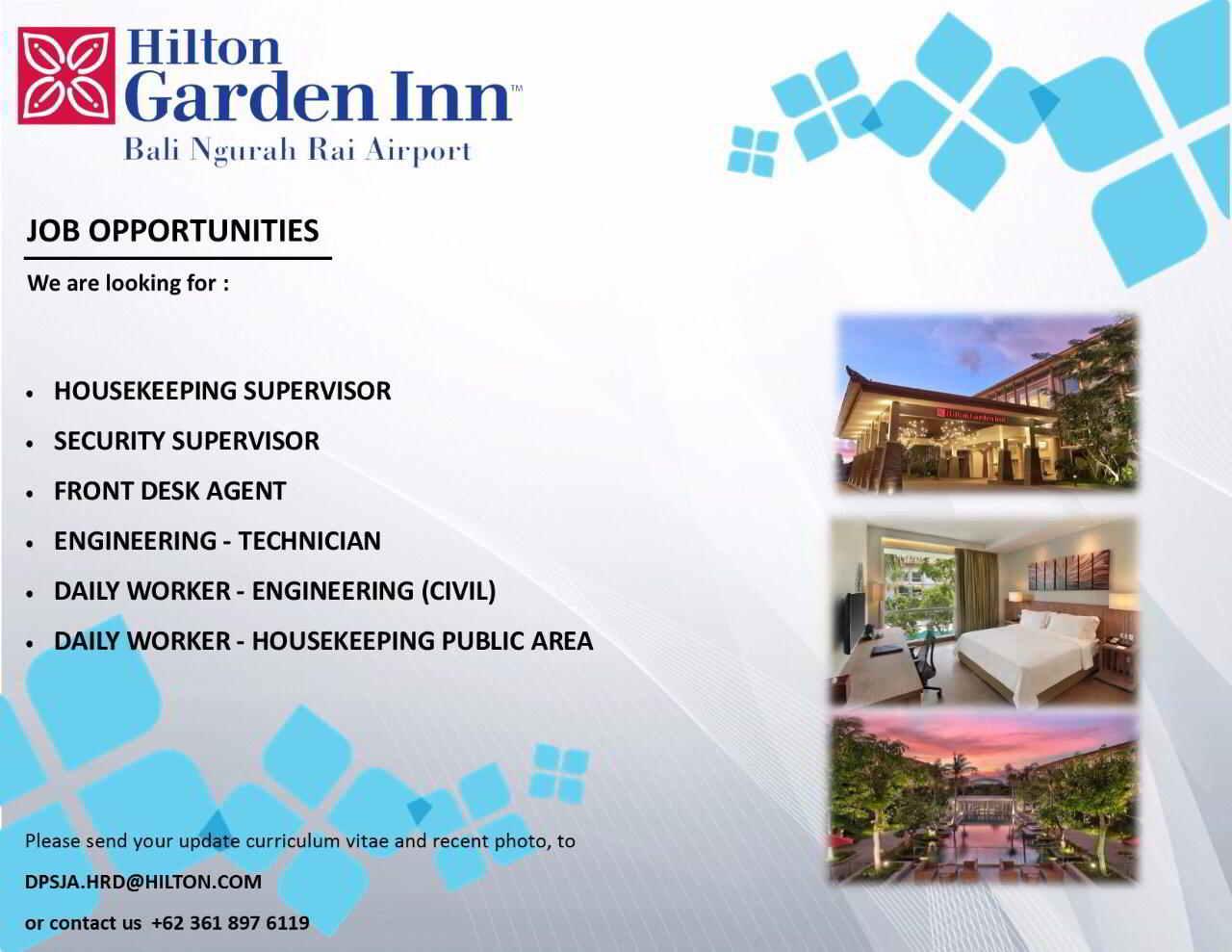 Hilton Garden Inn Bali Jobs News Sept 2017 Hotelier Indonesia Jobs