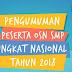 Pengumuman Peserta OSN SMP Tingkat Nasional 2018