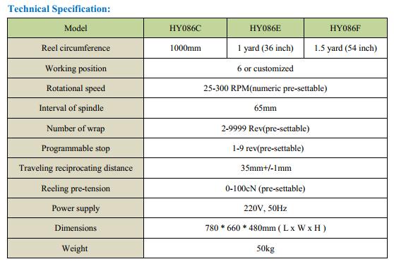 YARN WRAP REEL ELECTRNIC HY086C