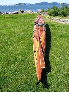 Cedar Wood Strip Kayak w/NorthPoint Paddle - Classic Model