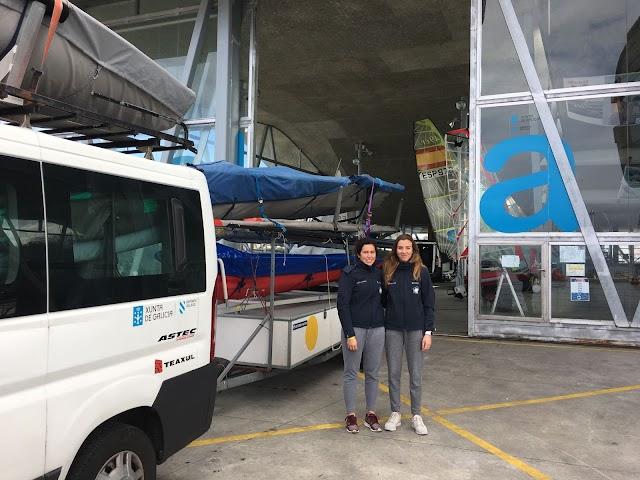 Patricia Suárez y María Alonso concentradas en el CEAR de Santander