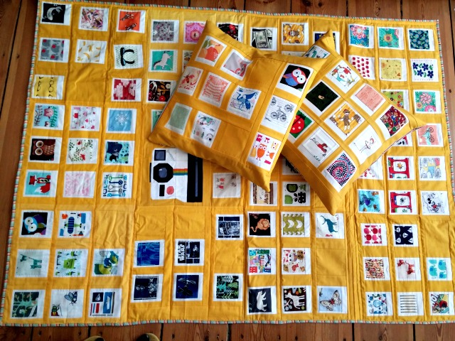 Puppilalla, Polaroid Quilt, Patchwork Pillowcase, Cushion