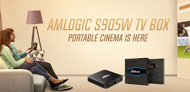 Promoçao Boxs TV Lowcost Processador S905W na Gearbest