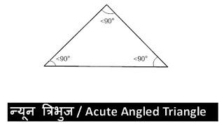 न्यूनकोण-त्रिभुज-acute-angled-triangle