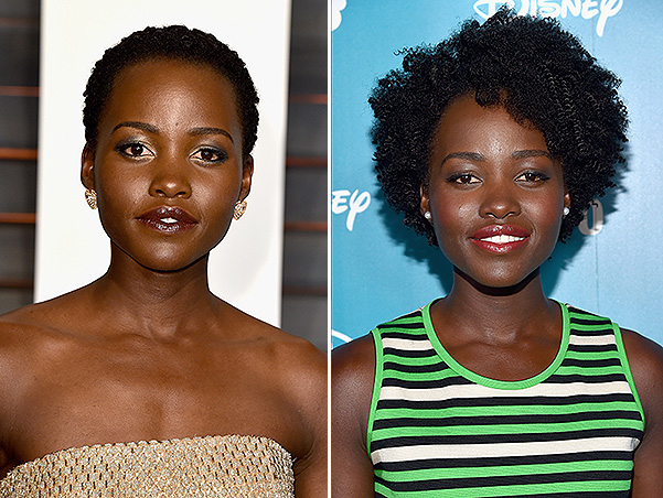 Course on elongation: Lupita Nyong'o has demonstrated a new hairstyle