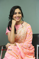 Actress Ritu Varma Pos in Beautiful Pink Anarkali Dress at at Keshava Movie Interview .COM 0234.JPG