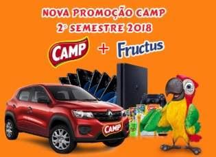Cadastrar Nova Promoção Camp Fructus 2018 Segundo Semestre