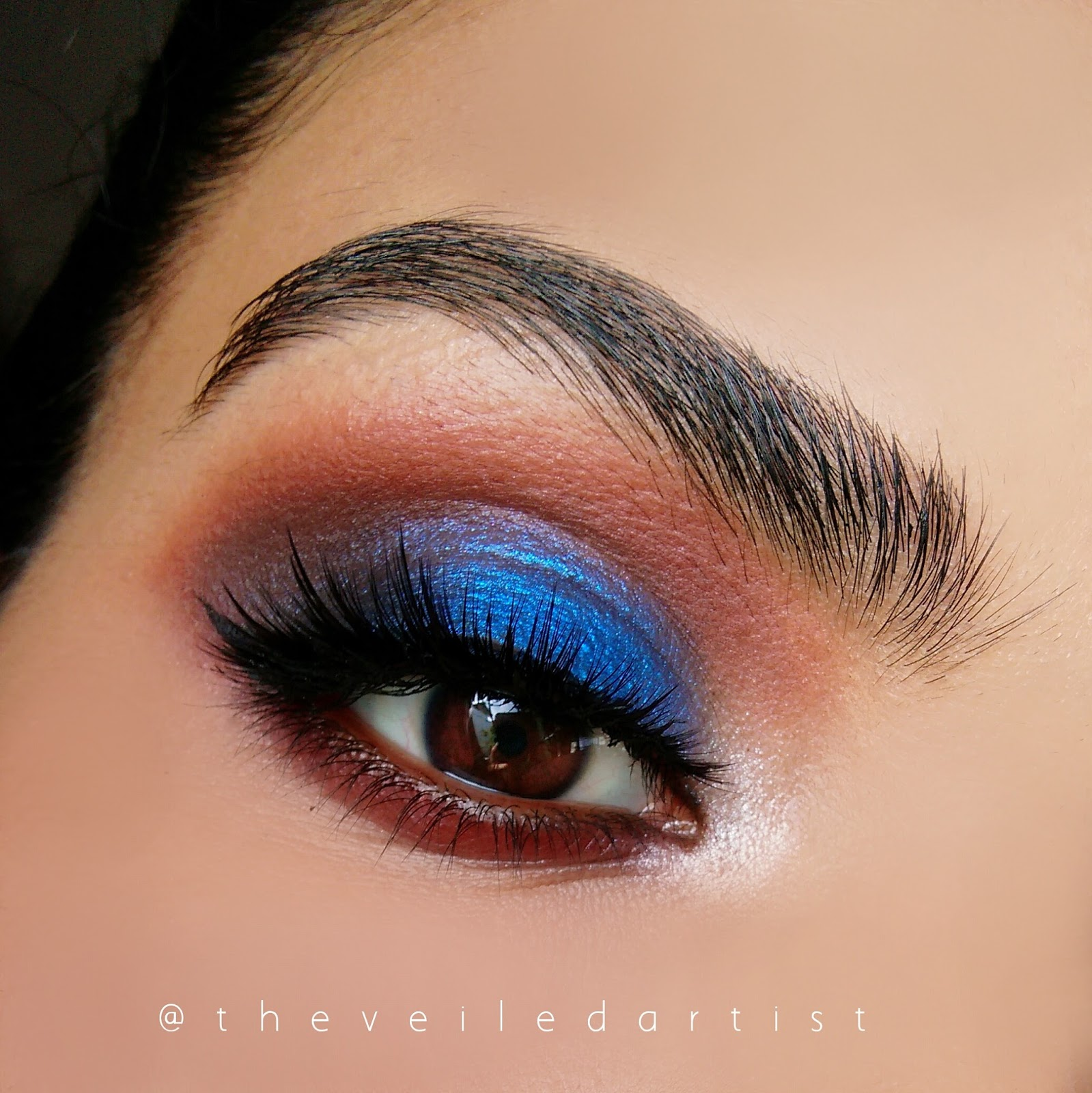 Fourth of July Inspired Blue and Red Smokey Eyes Tutorial(beginner friendly)