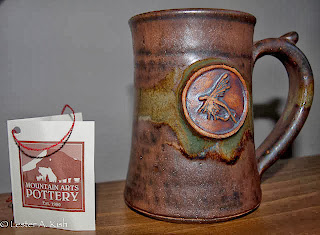 A mug from Montana Arts Pottery